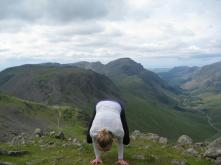 bakasana in the Lake District, UK